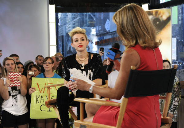 Miley Cyrus appears on ABC&#39;s &#39;Good Morning America&#39; on June 26, 2013. <span class=meta>(Donna Svennevik &#47; ABC)</span>