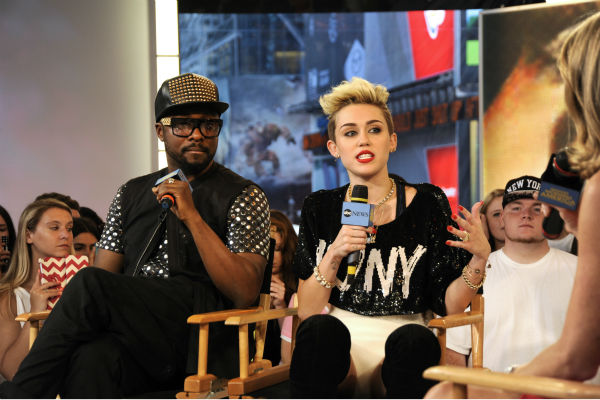 "<div class=""meta image-caption""><div class=""origin-logo origin-image ""><span></span></div><span class=""caption-text"">Miley Cyrus and will.i.am appear on ABC's 'Good Morning America' on June 26, 2013. (Donna Svennevik / ABC)</span></div>"
