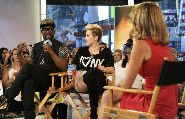 Miley Cyrus and will.i.am appear on ABC&#39;s &#39;Good Morning America&#39; on June 26, 2013. <span class=meta>(Donna Svennevik &#47; ABC)</span>