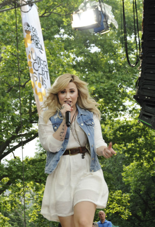 Demi Lovato performs live from New York City&#39;s Central Park on ABC&#39;s &#39;Good Morning America&#39; &#40;&#39;GMA&#39;&#41; on June 28, 2013. <span class=meta>(ABC &#47; Donna Svennevik)</span>