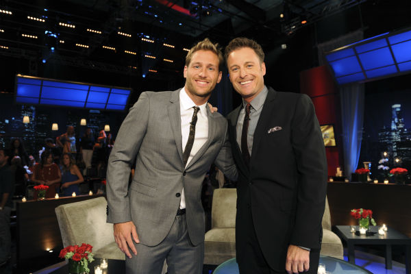 The newly-named star of ABC&#39;s &#39;The Bachelor&#39; season 18, Juan Pablo Galavis, a sexy single father of one daughter from Miami, Florida, appears with host Chris Harrison on &#39;The Bachelorette - After the Final Rose&#39; - the season 9 finale of the show on Aug. 5, 2013. <span class=meta>(ABC Photo &#47; Matt Petit)</span>