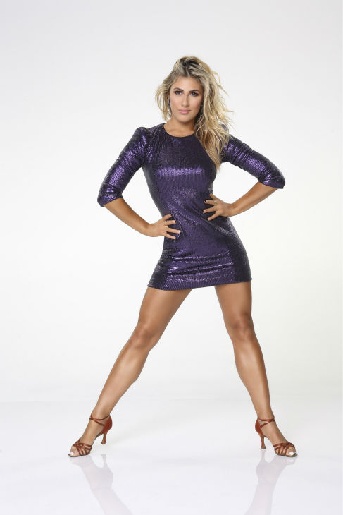 &#39;Dancing With The Stars&#39; pro-dancer Emma Slater appears in an official cast photo ahead of the Fall 2013 premiere of the ABC show. Her partner is comedian Bill Engvall. <span class=meta>(ABC Photo &#47; Craig Sjodin)</span>