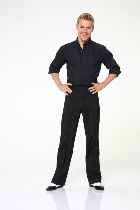 &#39;Dancing With The Stars&#39; pro-dancer Derek Hough appears in an official cast photo ahead of the Fall 2013 premiere of the ABC show. His partner is Amber Riley from &#39;Glee.&#39; <span class=meta>(ABC Photo &#47; Craig Sjodin)</span>
