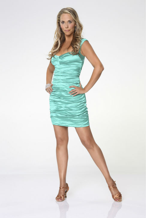 &#39;Dancing With The Stars&#39; cast member Elizabeth Berkley Lauren of &#39;Saved By The Bell&#39; and &#39;Showgirls&#39; fame appears in an official cast photo ahead of the Fall 2013 premiere of the ABC show. Her partner is Val Chmerkovskiy.  <span class=meta>(ABC Photo &#47; Craig Sjodin)</span>