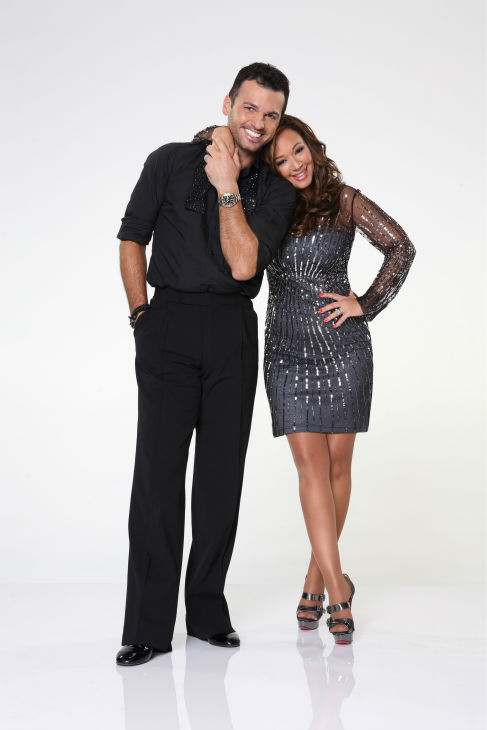 &#39;Dancing With the Stars&#39; season 17 cast member Leah Remini, formerly of the TV show &#39;The King of Queens,&#39; appears with dance partner Tony Dovolani in an official cast photo, ahead of the Fall 2013 premiere of the ABC show. <span class=meta>(ABC Photo &#47; Craig Sjodin)</span>