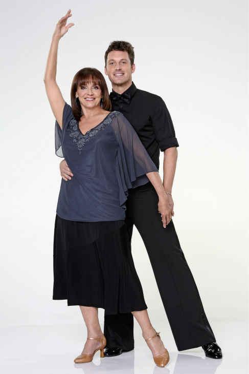 &#39;Dancing With the Stars&#39; season 17 cast member Valerie Harper, formerly of the shows &#39;Mary Tyler Moore&#39; and &#39;Rhoda&#39; and who made headlines in early 2013 by revealing her diagnosis of terminal brain cancer, appears with dance partner Tristan MacManus in an official cast photo, ahead of the Fall 2013 premiere of the ABC show.  <span class=meta>(ABC Photo &#47; Craig Sjodin)</span>