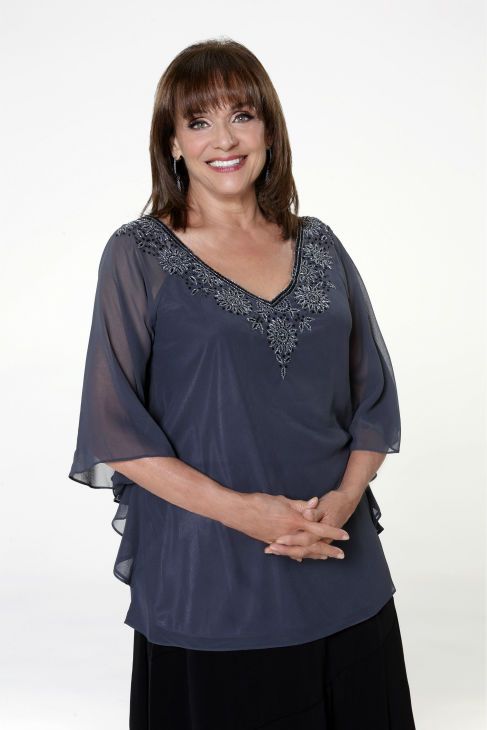 'Dancing With The Stars' cast member Valerie Harper of 'Rhoda' and the 'Mary Tyler Moore' show fame appears in an official cast photo ahead of the Fall 2013 premiere of the ABC show. Her partner is Tristan MacManus.