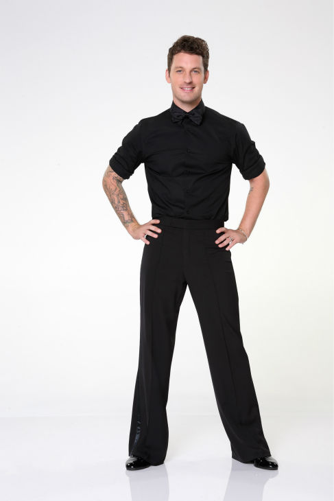 "<div class=""meta image-caption""><div class=""origin-logo origin-image ""><span></span></div><span class=""caption-text"">'Dancing With The Stars' pro-dancer Tristan MacManus appears in an official cast photo ahead of the Fall 2013 premiere of the ABC show. His partner is Valerie Harper of 'Rhoda' and the 'Mary Tyler Moore' show fame. (ABC Photo / Craig Sjodin)</span></div>"