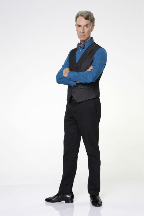 "<div class=""meta image-caption""><div class=""origin-logo origin-image ""><span></span></div><span class=""caption-text"">'Dancing With The Stars' cast member Bill Nye the 'Science Guy' appears in an official cast photo ahead of the Fall 2013 premiere of the ABC show. His partner is Tyne Stecklein. (ABC Photo / Craig Sjodin)</span></div>"