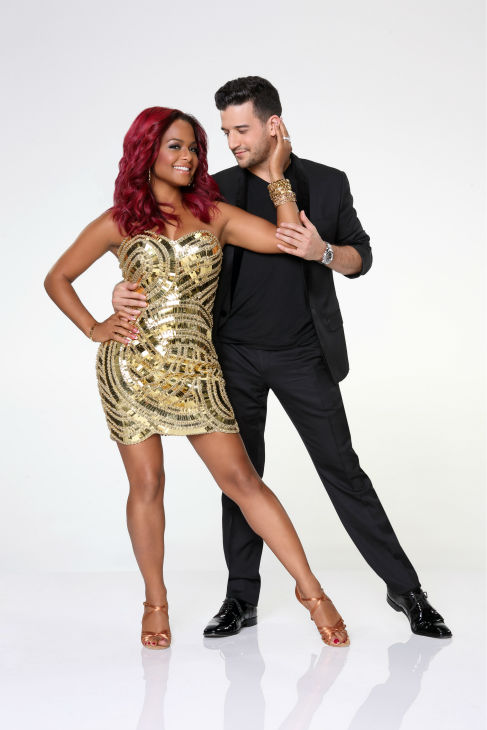 'Dancing With the Stars' season 17 cast member Christina Milian, a pop singer who served as an on-air Social Media Correspondent for the NBC reality show 'The Voice,' appears with dance partner Mark Ballas in an official cast photo,.