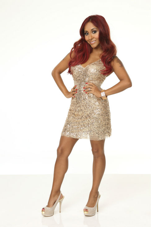 &#39;Dancing With The Stars&#39; cast member Nicole &#39;Snooki&#39; Polizzi of &#39;Jersey Shore&#39; fame appears in an official cast photo ahead of the Fall 2013 premiere of the ABC show. Her partner is Sasha Farber. <span class=meta>(ABC Photo &#47; Craig Sjodin)</span>
