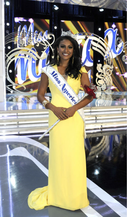 "<div class=""meta ""><span class=""caption-text "">Nina Davuluri, Miss New York, is crowned Miss America 2014 at the annual pageant in Atlantic City, New Jersey on Sept. 15, 2013. (ABC Photo / Ida Mae Astute)</span></div>"