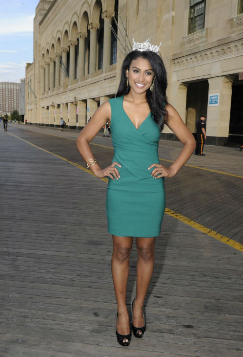 Nina Davuluri, Miss New York and the new Miss America 2014 appears after the annual pageant in Atlantic City, New Jersey on Sept. 15, 2013. <span class=meta>(ABC Photo &#47; Ida Mae Astute)</span>
