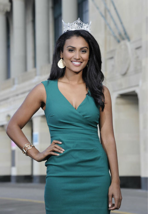 "<div class=""meta image-caption""><div class=""origin-logo origin-image ""><span></span></div><span class=""caption-text"">Nina Davuluri, Miss New York and the new Miss America 2014 appears after the annual pageant in Atlantic City, New Jersey on Sept. 15, 2013. (ABC Photo / Ida Mae Astute)</span></div>"