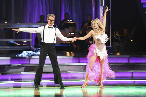 "<div class=""meta image-caption""><div class=""origin-logo origin-image ""><span></span></div><span class=""caption-text"">Bill Nye and Tyne Stecklein dance the Cha Cha Cha on week one of 'Dancing With The Stars' on Sept. 16, 2013. They received 14 out of 30 points from the judges. (ABC Photo / Adam Taylor)</span></div>"
