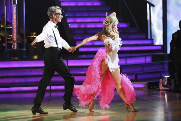 Bill Nye and Tyne Stecklein dance the Cha Cha Cha on week one of 'Dancing With The Stars' on Sept. 16, 2013. They received 14 out of 30 points from the judges.