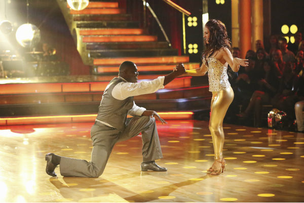 Keyshawn Johnson and Sharna Burgess dance the Cha Cha Cha on week one of &#39;Dancing With The Stars&#39; on Sept. 16, 2013. They received 17 out of 30 points from the judges. <span class=meta>(ABC Photo &#47; Adam Taylor)</span>