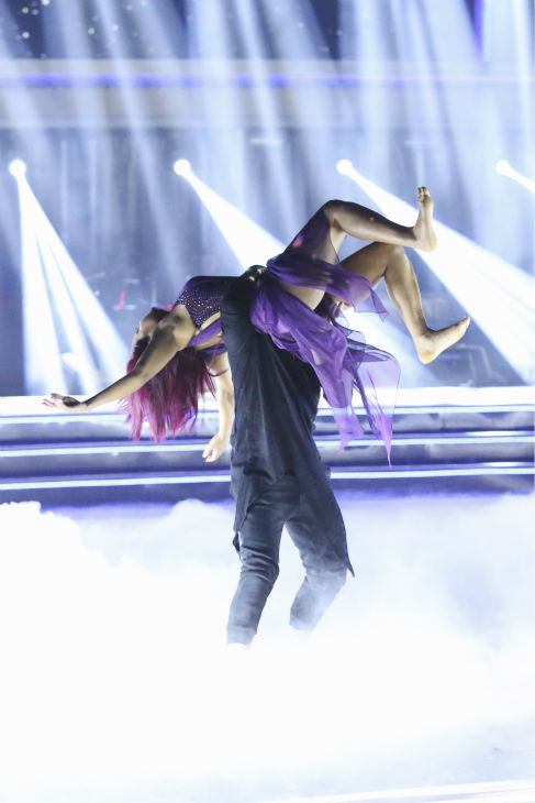 Christina Milian and Mark Ballas dance the Contemporary on week one of &#39;Dancing With The Stars&#39; on Sept. 16, 2013. They received 22 out of 30 points from the judges. <span class=meta>(ABC Photo &#47; Adam Taylor)</span>