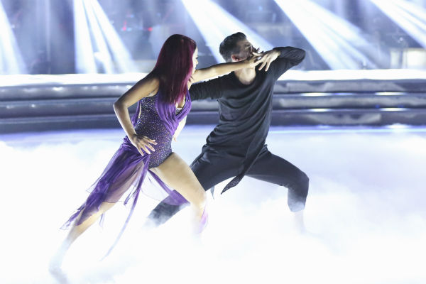 "<div class=""meta image-caption""><div class=""origin-logo origin-image ""><span></span></div><span class=""caption-text"">Christina Milian and Mark Ballas dance the Contemporary on week one of 'Dancing With The Stars' on Sept. 16, 2013. They received 22 out of 30 points from the judges. (ABC Photo / Adam Taylor)</span></div>"