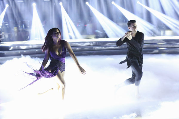 Christina Milian and Mark Ballas dance the Contemporary on week one of 'Dancing With The Stars' on Sept. 16, 2013. They received 22 out of 30 points from the judges.