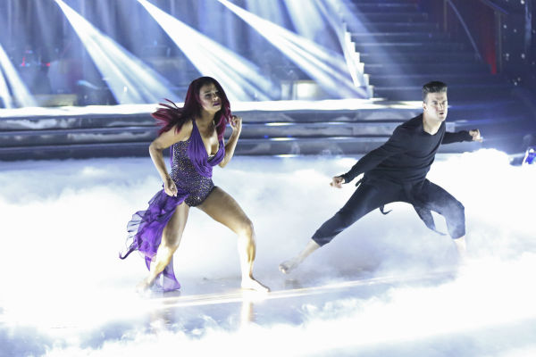 "<div class=""meta ""><span class=""caption-text "">Christina Milian and Mark Ballas dance the Contemporary on week one of 'Dancing With The Stars' on Sept. 16, 2013. They received 22 out of 30 points from the judges. (ABC Photo / Adam Taylor)</span></div>"