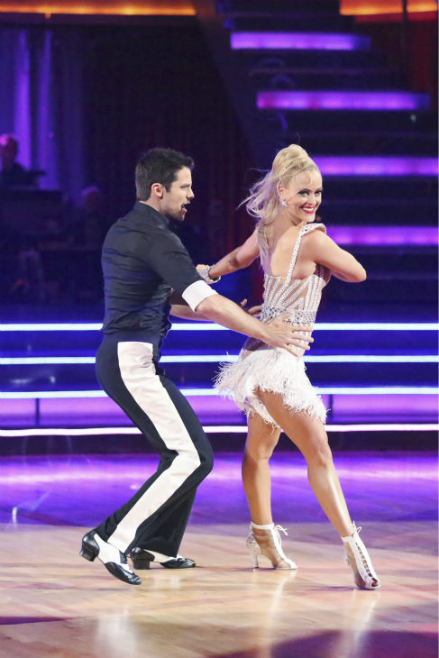 Brant Daugherty and Peta Murgatroyd dance the Cha Cha Cha on week one of &#39;Dancing With The Stars&#39; on Sept. 16, 2013. They received 22 out of 30 points from the judges. <span class=meta>(ABC Photo &#47; Adam Taylor)</span>