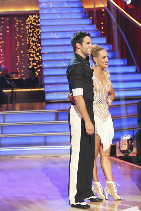 "<div class=""meta image-caption""><div class=""origin-logo origin-image ""><span></span></div><span class=""caption-text"">Brant Daugherty and Peta Murgatroyd danced the Cha Cha Cha on week one of 'Dancing With The Stars' on Sept. 16, 2013. They received 22 out of 30 points from the judges. (ABC Photo / Adam Taylor)</span></div>"