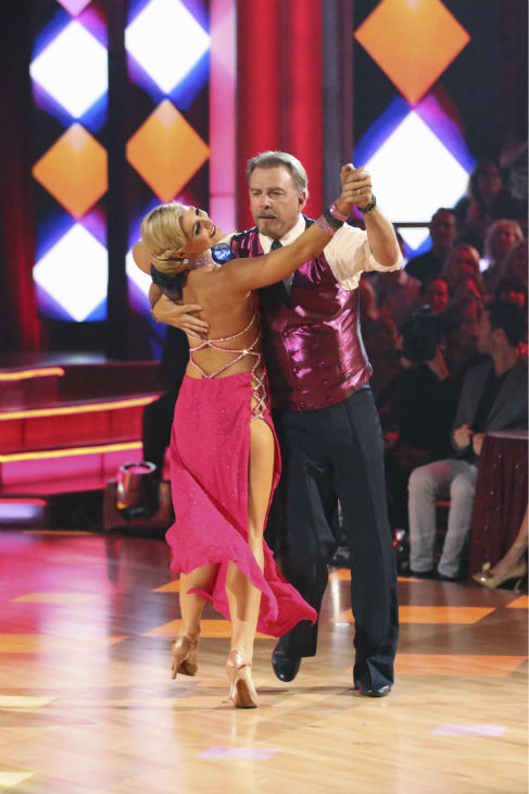 "<div class=""meta ""><span class=""caption-text "">Bill Engvall and Emma Slater dance the Foxtrot on week one of 'Dancing With The Stars' on Sept. 16, 2013. They received 18 out of 30 points from the judges. (ABC Photo / Adam Taylor)</span></div>"