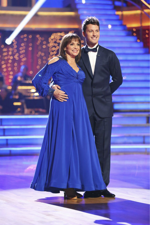 Valerie Harper and Tristan MacManus dance the Foxtrot on week one of 'Dancing With The Stars' on Sept. 16, 2013. They received 21 out of 30 points from the judges.