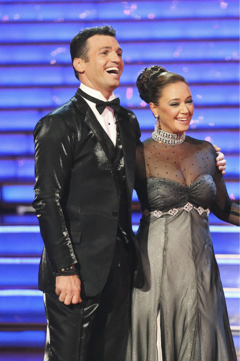 "<div class=""meta image-caption""><div class=""origin-logo origin-image ""><span></span></div><span class=""caption-text"">Leah Remini and Tony Dovolani danced the Foxtrot on week one of 'Dancing With The Stars' on Sept. 16, 2013. They received 21 out of 30 points from the judges. (ABC Photo / Adam Taylor)</span></div>"