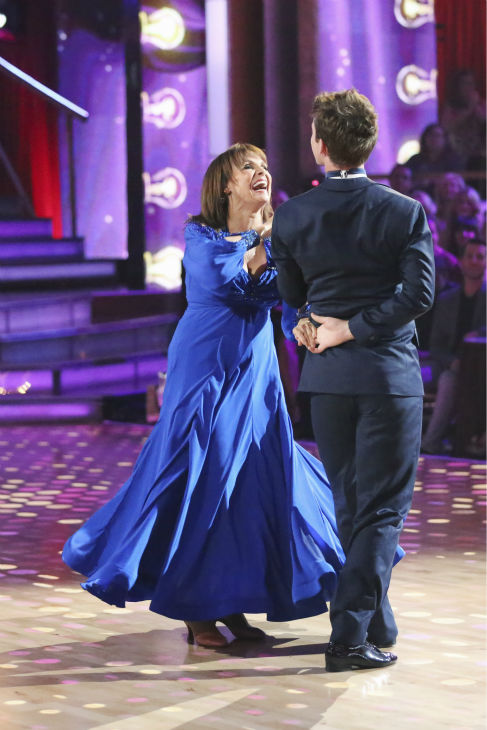 "<div class=""meta ""><span class=""caption-text "">Valerie Harper and Tristan MacManus dance the Foxtrot on week one of 'Dancing With The Stars' on Sept. 16, 2013. They received 21 out of 30 points from the judges. (ABC Photo / Adam Taylor)</span></div>"