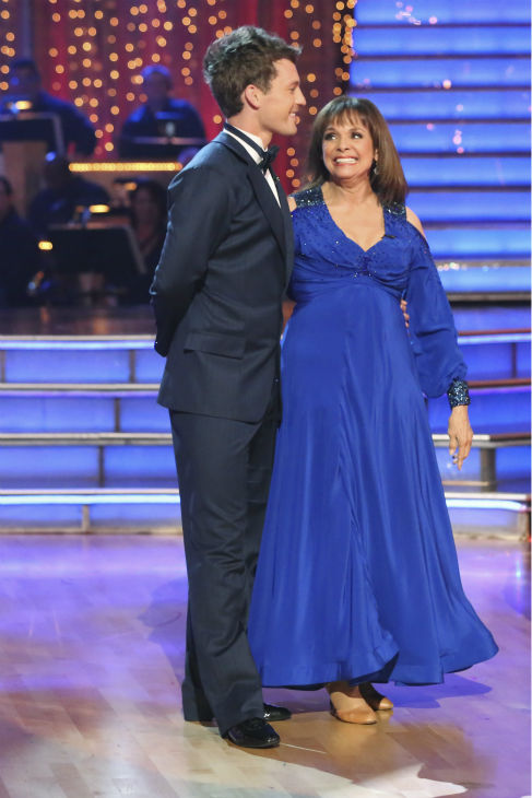 "<div class=""meta image-caption""><div class=""origin-logo origin-image ""><span></span></div><span class=""caption-text"">Valerie Harper and Tristan MacManus dance the Foxtrot on week one of 'Dancing With The Stars' on Sept. 16, 2013. They received 21 out of 30 points from the judges. (ABC Photo / Adam Taylor)</span></div>"