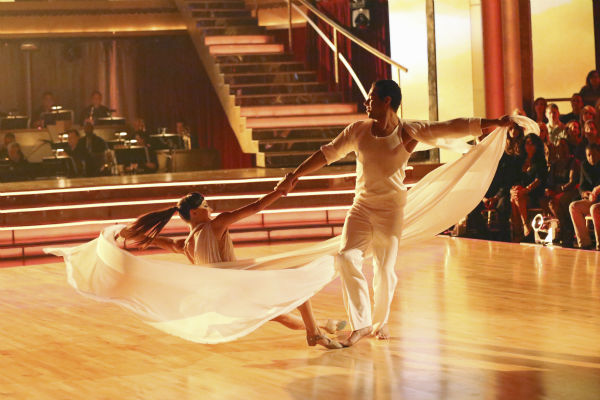 "<div class=""meta image-caption""><div class=""origin-logo origin-image ""><span></span></div><span class=""caption-text"">Corbin Bleu and Karina Smirnoff dance the Contemporary on week one of 'Dancing With The Stars' on Sept. 16, 2013. They received 24 out of 30 points from the judges. (ABC Photo / Adam Taylor)</span></div>"