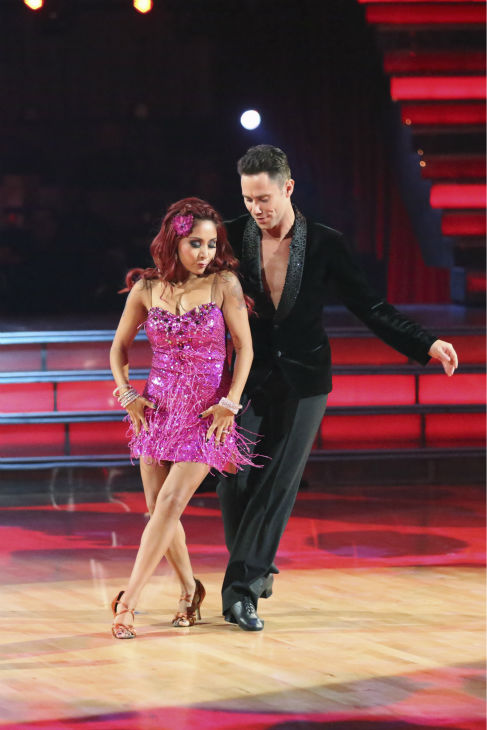 Nicole 'Snooki' Polizzi and Sasha Farber dance the Cha Cha Cha on week one of 'Dancing With The Stars' on Sept. 16, 2013. They received 23 out of 30 points from the judges.