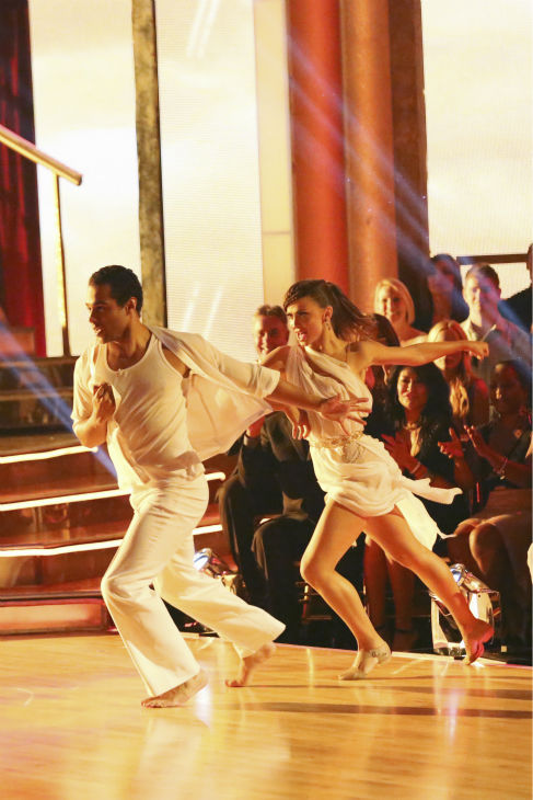 Corbin Bleu and Karina Smirnoff dance the Contemporary on week one of 'Dancing With The Stars' on Sept. 16, 2013. They received 24 out of 30 points from the judges.