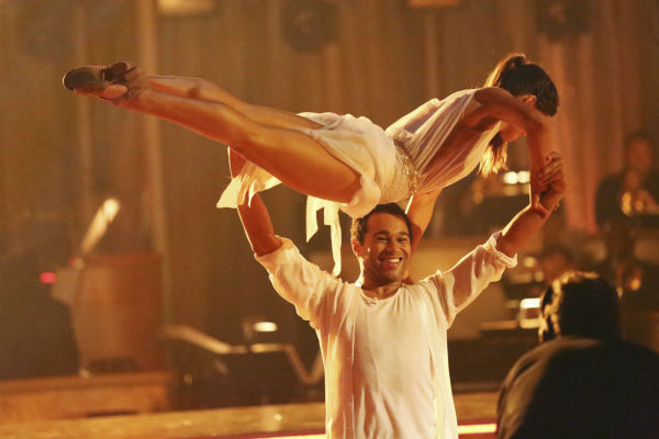 "<div class=""meta ""><span class=""caption-text "">Corbin Bleu and Karina Smirnoff dance the Contemporary on week one of 'Dancing With The Stars' on Sept. 16, 2013. They received 24 out of 30 points from the judges. (ABC Photo / Adam Taylor)</span></div>"