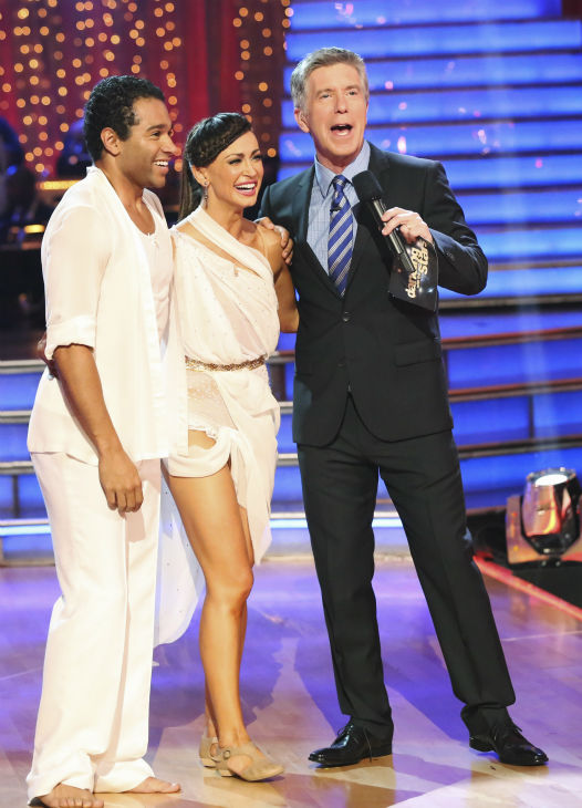 "<div class=""meta image-caption""><div class=""origin-logo origin-image ""><span></span></div><span class=""caption-text"">Corbin Bleu and Karina Smirnoff danced the Contemporary on week one of 'Dancing With The Stars' on Sept. 16, 2013. They received 24 out of 30 points from the judges. (ABC Photo / Adam Taylor)</span></div>"