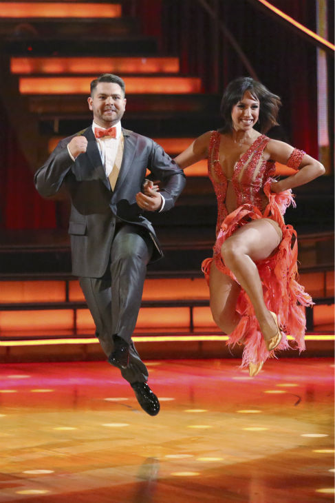"<div class=""meta ""><span class=""caption-text "">Jack Osbourne and Cheryl Burke dance the Foxtrot on week one of 'Dancing With The Stars' on Sept. 16, 2013. They received 23 out of 30 points from the judges. (ABC Photo / Adam Taylor)</span></div>"