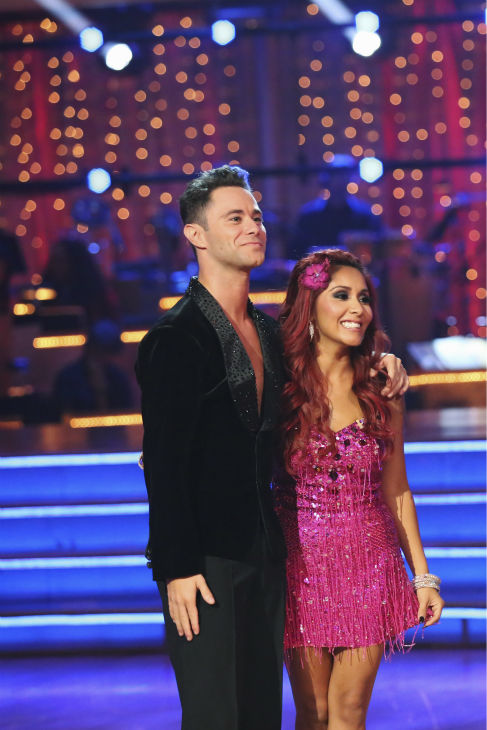 "<div class=""meta image-caption""><div class=""origin-logo origin-image ""><span></span></div><span class=""caption-text"">Nicole 'Snooki' Polizzi and Sasha Farber dance the Cha Cha Cha on week one of 'Dancing With The Stars' on Sept. 16, 2013. They received 23 out of 30 points from the judges. (ABC Photo / Adam Taylor)</span></div>"