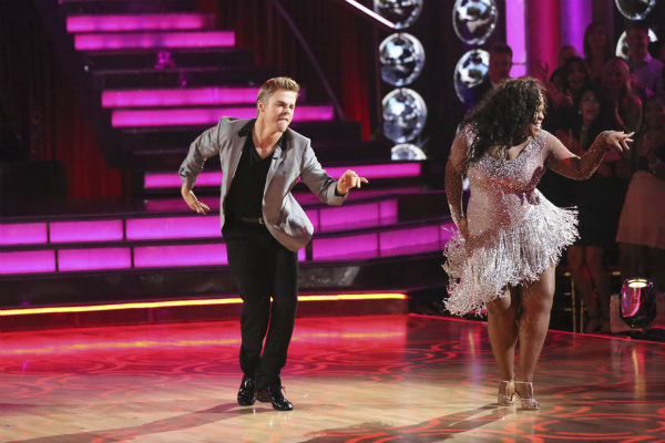 Amber Riley and Derek Hough dance the Cha Cha Cha on week one of &#39;Dancing With The Stars&#39; on Sept. 16, 2013. They received 27 out of 30 points from the judges. <span class=meta>(ABC Photo &#47; Adam Taylor)</span>