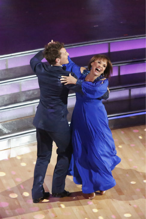 "<div class=""meta image-caption""><div class=""origin-logo origin-image ""><span></span></div><span class=""caption-text"">Valerie Harper and Tristan MacManus dance the Foxtrot on week one of 'Dancing With The Stars' on Sept. 16, 2013. They received 21 out of 30 points from the judges. (ABC Photo / Kelsey McNeal)</span></div>"