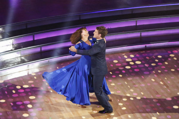 "<div class=""meta ""><span class=""caption-text "">Valerie Harper and Tristan MacManus dance the Foxtrot on week one of 'Dancing With The Stars' on Sept. 16, 2013. They received 21 out of 30 points from the judges. (ABC Photo / Kelsey McNeal)</span></div>"