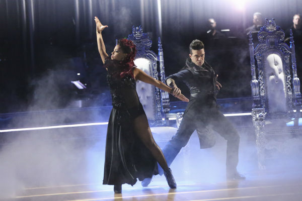 "<div class=""meta ""><span class=""caption-text "">Christina Milian and Mark Ballas dance the Paso Doble on week 2 of 'Dancing With The Stars' on Sept. 23, 2013. They received 25 out of 30 points from the judges. (ABC Photo / Adam Taylor)</span></div>"