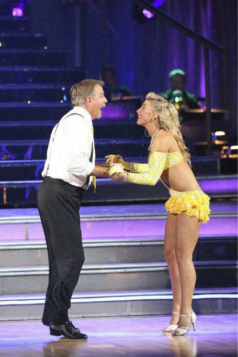 "<div class=""meta ""><span class=""caption-text "">Bill Engvall and Emma Slater dance the Jive on week 2 of 'Dancing With The Stars' on Sept. 23, 2013. They received 21 out of 30 points from the judges. (ABC Photo / Adam Taylor)</span></div>"