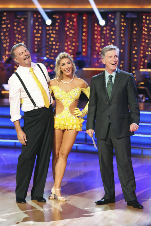 "<div class=""meta image-caption""><div class=""origin-logo origin-image ""><span></span></div><span class=""caption-text"">Bill Engvall and Emma Slater await their fate on week 2 of 'Dancing With The Stars' on Sept. 23, 2013. They received 21 out of 30 points from the judges for their Jive. (ABC Photo / Adam Taylor)</span></div>"