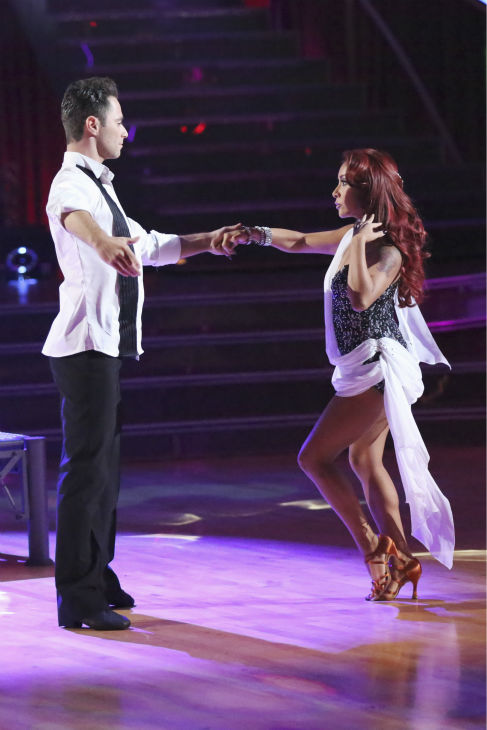 "<div class=""meta ""><span class=""caption-text "">Nicole 'Snooki' Polizzi and Sasha Farber dance the Rumba on week 2 of 'Dancing With The Stars' on Sept. 23, 2013. They received 20 out of 30 points from the judges. (ABC Photo / Adam Taylor)</span></div>"