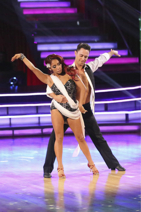 "<div class=""meta ""><span class=""caption-text "">Nicole 'Snooki' Polizzi and Sasha Farber dance the Rumba on week 2 of 'Dancing With The Stars' on Sept. 23, 2013. They received 20 out of 30 points from the judges. (ABC Photo/ Adam Taylor)</span></div>"