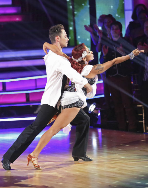 Nicole &#39;Snooki&#39; Polizzi and Sasha Farber dance the Rumba on week 2 of &#39;Dancing With The Stars&#39; on Sept. 23, 2013. They received 20 out of 30 points from the judges. <span class=meta>(ABC Photo &#47; Adam Taylor)</span>