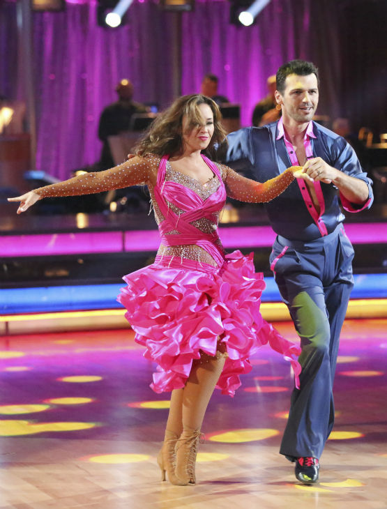 "<div class=""meta ""><span class=""caption-text "">Leah Remini and Tony Dovolani dance the Samba on week 2 of 'Dancing With The Stars' on Sept. 23, 2013. They received 24 out of 30 points from the judges. (ABC Photo / Adam Taylor)</span></div>"