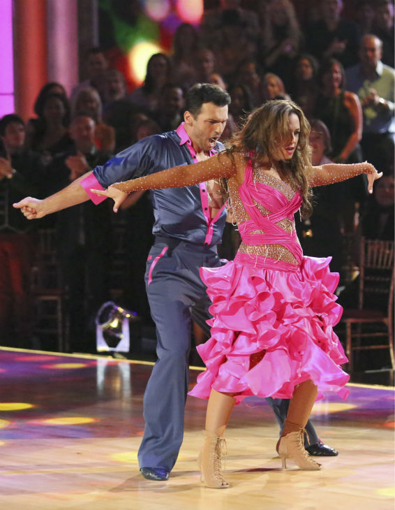 Leah Remini and Tony Dovolani dance the Samba on week 2 of 'Dancing With The Stars' on Sept. 23, 2013. They received 24 out of 30 points from the judges.